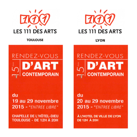 LES 111 DES ARTS 2015 á Toulouse et Lyon - Ulla Kern